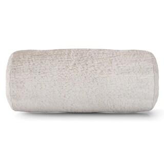 Majestic Home Goods Solid Cream Sherpa Round bolster