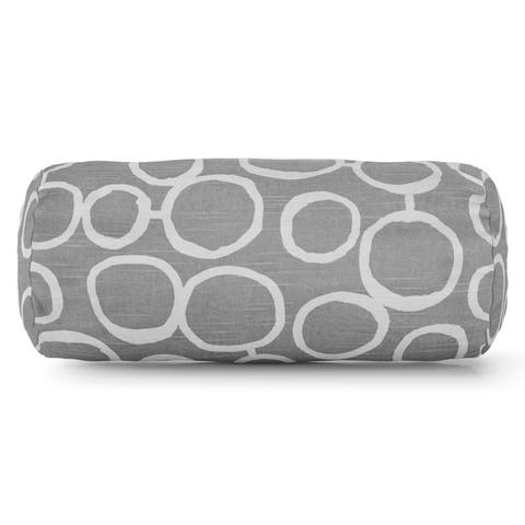 Majestic Home Goods Indoor Fusion Round Bolster Decorative Throw Pillow