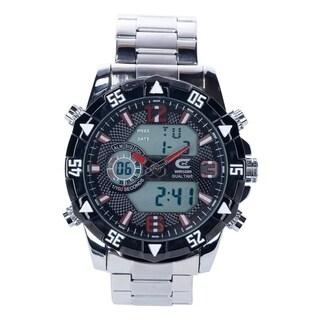 Croton Men's CX328038SSWH Ana-Digi Chronograph Bracelet Watch - Silvertone - N/A