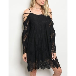 JED Women's Strappy Short Lace Dress