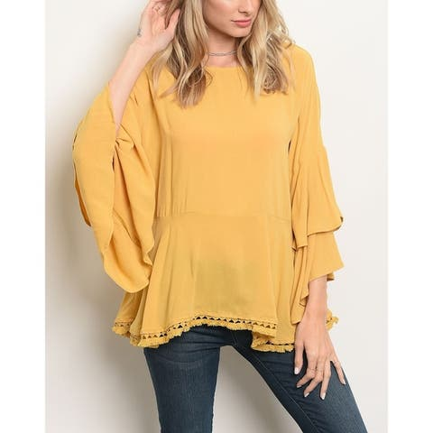 Yellow Tops   Find Great Women's Clothing Deals Shopping at