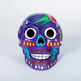 Handmade Cermaic Day of the Dead Skull (Mexico)