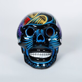 Hand Painted Ceramic Day of the Dead Skull
