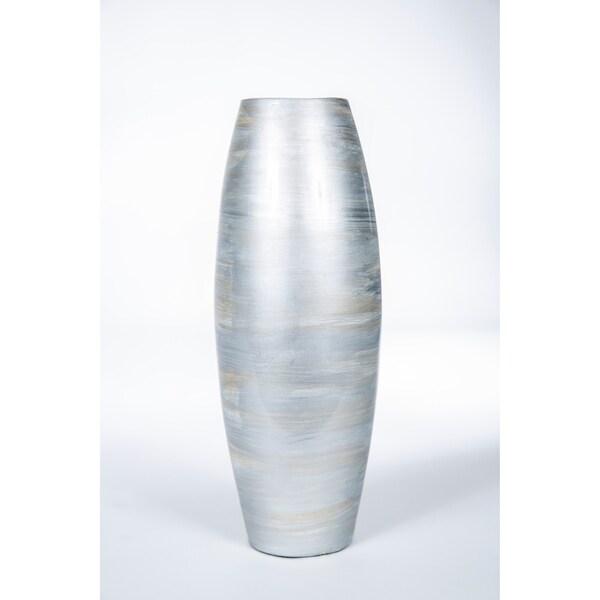 Handmade Silver Cyclinder Vase (Mexico)