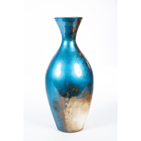 Handmade Antique Blue Vase (Mexico)