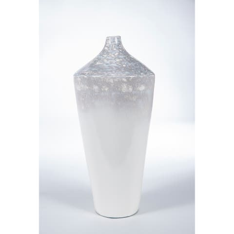 Handmade Antique White Vase (Mexico)