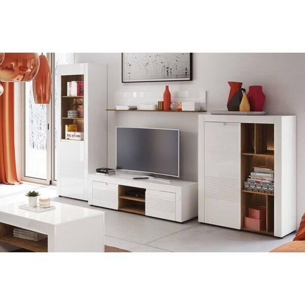 Shop Belfort White High-gloss 4-shelf Modern Bookcase