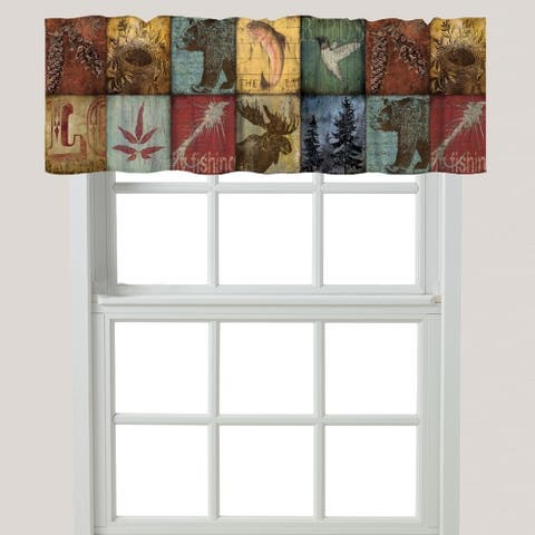 Carbon Loft Lisherness Cabin Patchwork Window Valance