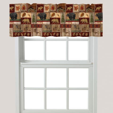Laural Home Nature Collage Window Valance