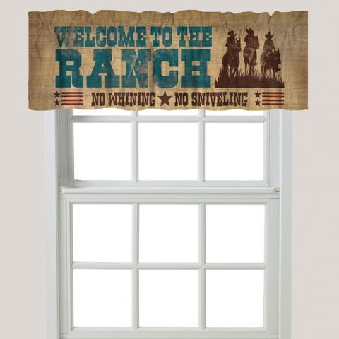 Laural Home Rode Words Window Valance