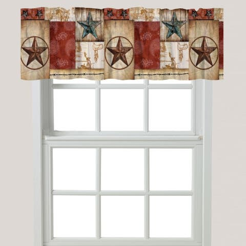 Laural Home Rodeo Patch Window Valance