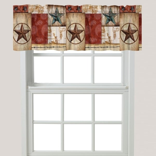 Laural Home Rodeo Patch Window Valance. Opens flyout.