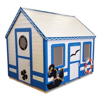 Handcrafted and furnished playhouse Marine Max (6x8 ft)