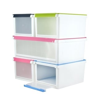 Front & Top Opening Storage Box (Pack of 6)