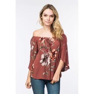 Olivia Pratt Floral Off the Shoulder Top
