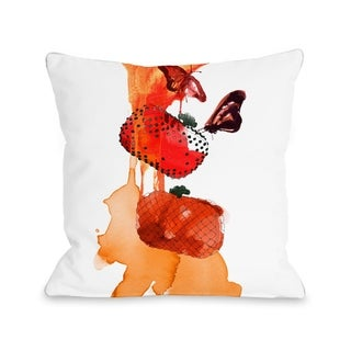Orange Purses - White Orange  Pillow by Judit Garcia Talvera
