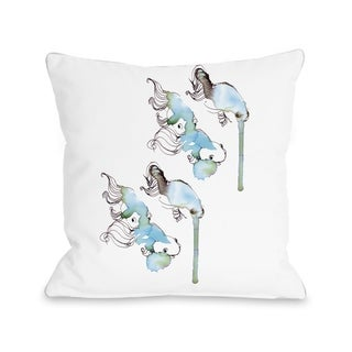 Goldfish  - White Multi  Pillow by Judit Garcia Talvera