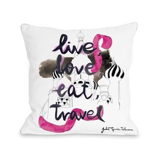 Moscow  - White Multi  Pillow by Judit Garcia Talvera