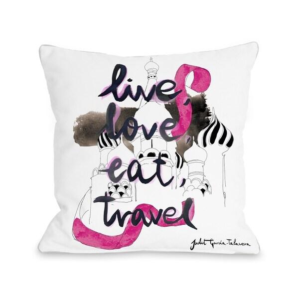 Moscow - White Multi Pillow by Judit Garcia Talvera
