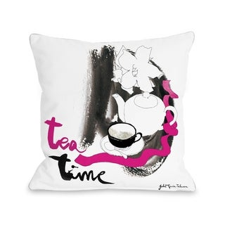Tea  - White Multi  Pillow by Judit Garcia Talvera