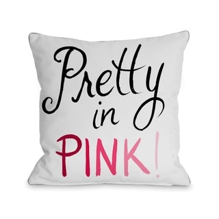 Pretty in Pink/Hello Gorgeous Bows - White Pink  Pillow by Timree