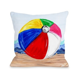 Beachball - Multi  Pillow by Timree