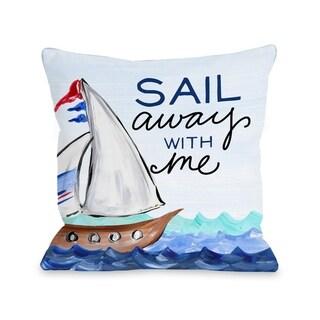 Sail Away - Multi  Pillow by Timree