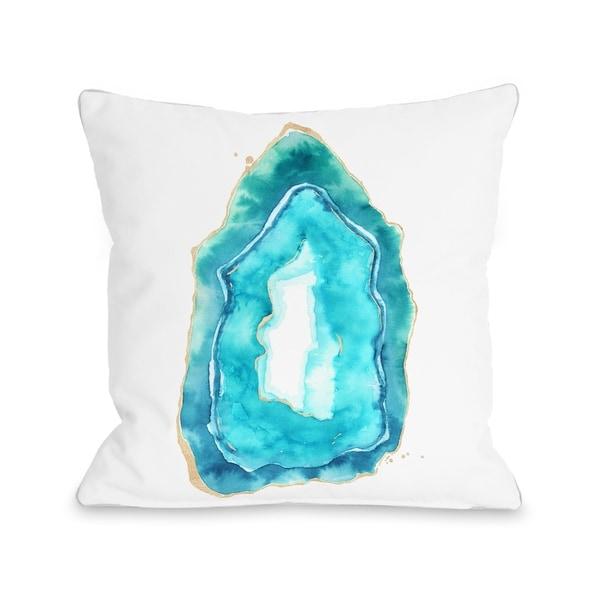 Petite Formations - Caribbean Aqua - Caribbean Aqua Pillow by lezleelliott