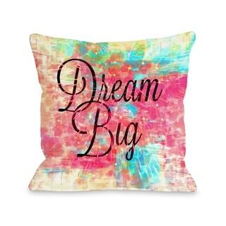 Dream Big Leopard  - Multi  Pillow by Julia Di Sano