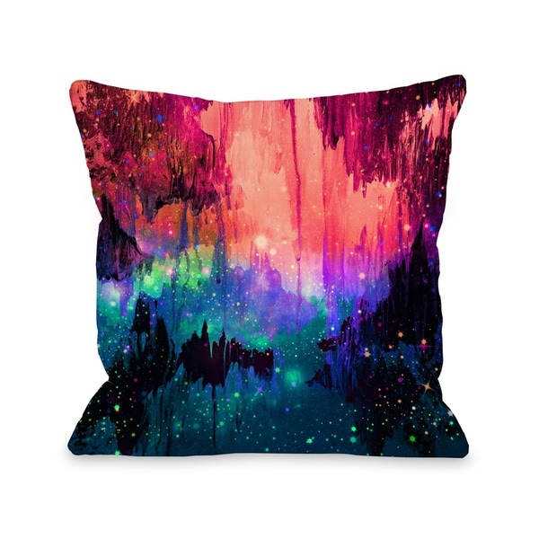 Castles in the Mist 2 - Multi Pillow by Julia Di Sano