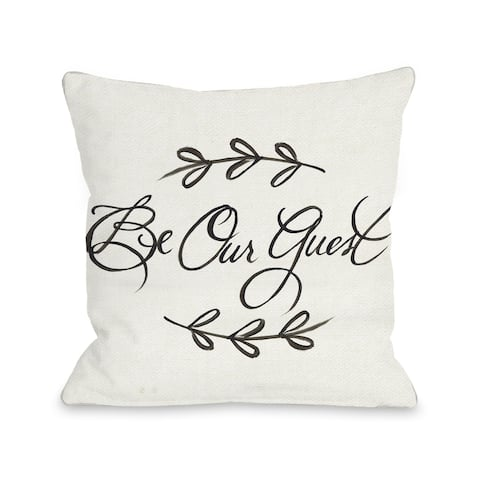 Be Our Guest - Ivory Pillow by Timree