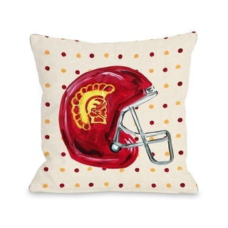 USC Helmet - Red  Pillow by Timree