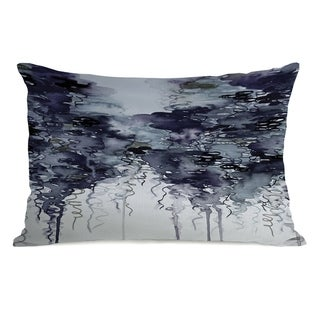 Midnight Showers  - Gray 14x20 Pillow by Julia Di Sano