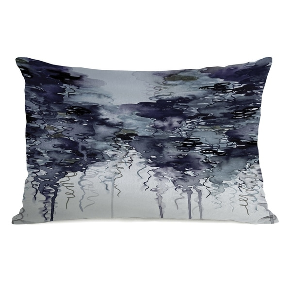Midnight Showers - Gray 14x20 Pillow by Julia Di Sano