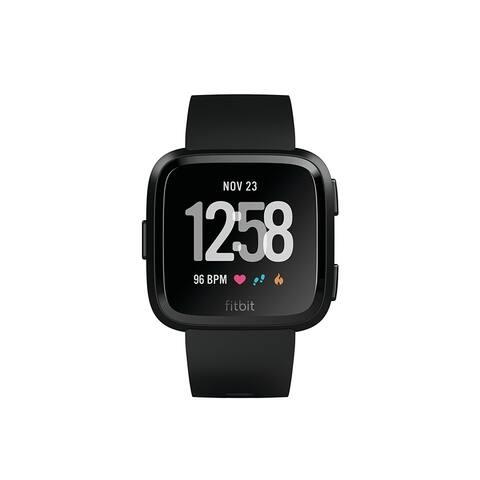 FitbitVersa Smartwatch Black/ Black Aluminum