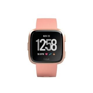 FitbitVersa Smartwatch Peach/ Rose Gold Aluminum