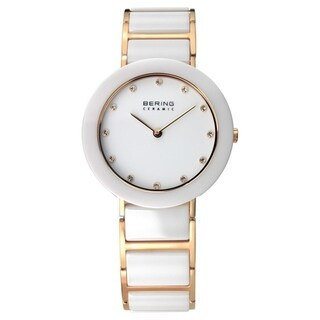 Bering Women's 11429-751 'Ceramic' Crystal Two-Tone Stainless steel and Ceramic Watch