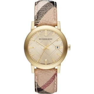 Burberry Unisex BU9026 'The City' Brown Leather Watch