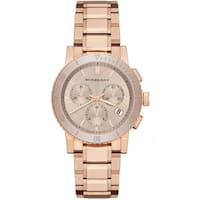 Burberry Women's  'The City' Chronograph Rose-Tone Stainless Steel Watch