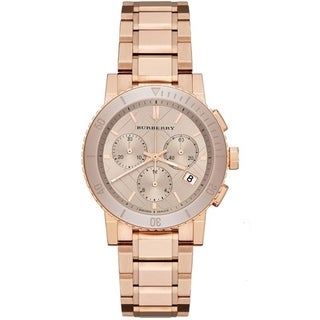 Burberry Women's BU9703 'The City' Chronograph Rose-Tone Stainless Steel Watch