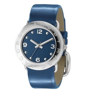 Marc Jacobs Women's 'Amy' Blue Leather Watch