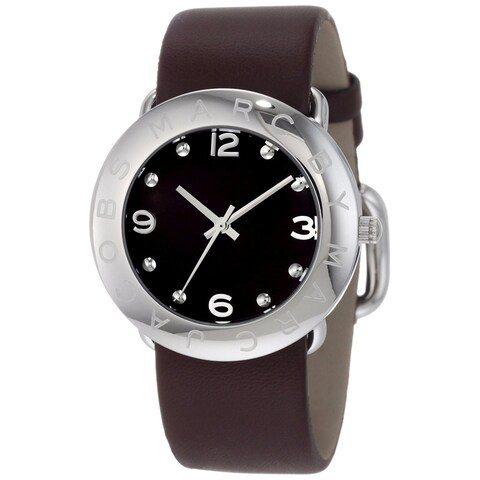 Marc Jacobs Women's 'Amy' Brown Leather Watch