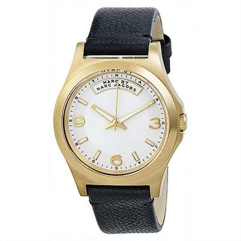 Marc Jacobs Women's MBM1264 'Dave' Black Leather Watch
