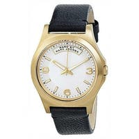 Marc Jacobs Women's  'Dave' Black Leather Watch