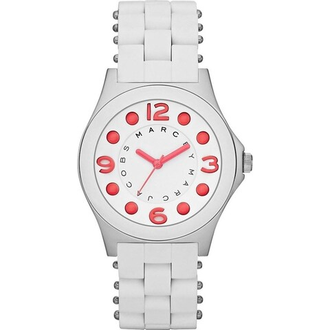 Marc Jacobs Women's 'Pelly' White Stainless steel and Silicone Watch