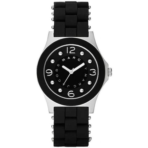 ff97581f2 Marc Jacobs Women's 'Pelly' Black Stainless steel and Silicone Watch