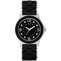 Marc Jacobs Women's  'Pelly' Black Stainless steel and Silicone Watch