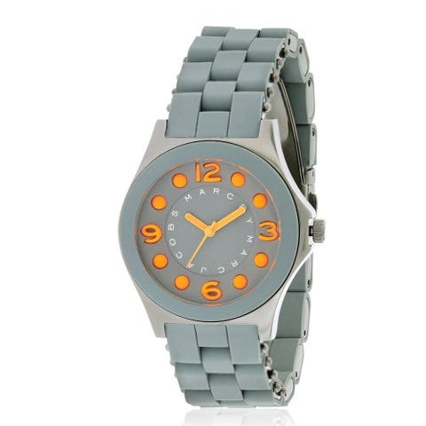 Marc Jacobs Women's MBM2589 'Pelly' Grey Stainless steel and Silicone Watch