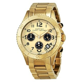 Marc Jacobs Women's MBM3158 'Rock' Chronograph Gold-Tone Stainless Steel Watch