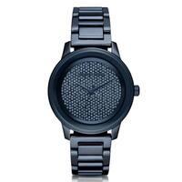 Michael Kors Women's  'Kinley' Crystal Blue Stainless Steel Watch